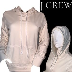 NWOT JCrew cream hoodie cotton